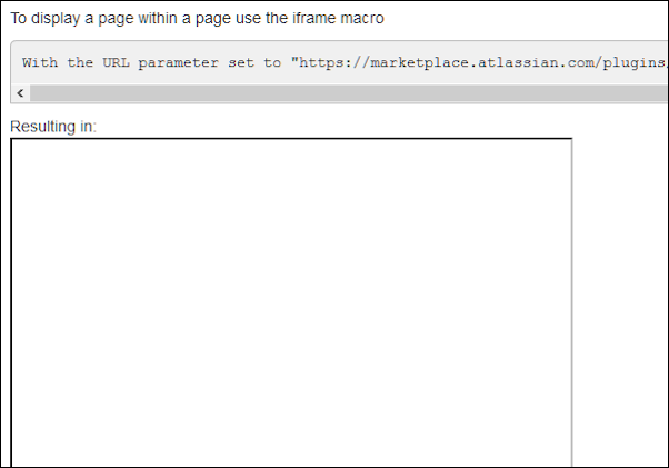 An example of a rendered iFrame with unavailable content.