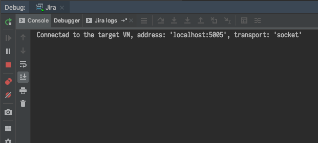 A Debugger running in an IntelliJ IDEA window.
