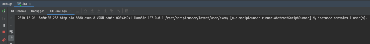 The same example message in the IntelliJ IDEA window.