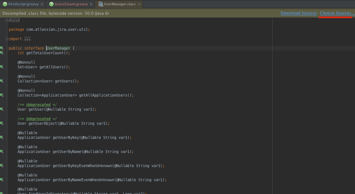 Class information provided by the Decompiler in IntelliJ IDEA.